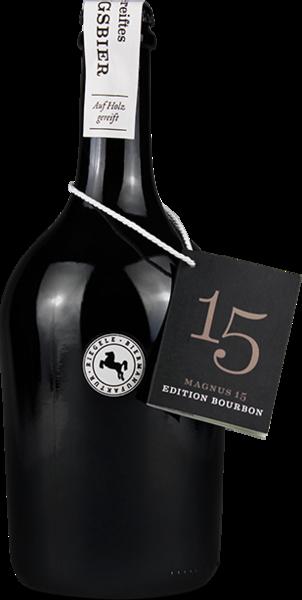Hier ist eine Flasche Magnus 15
