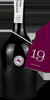 Hier ist eine Flasche Magnus 19