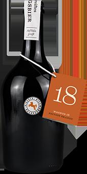 Hier ist eine Flasche Magnus 18