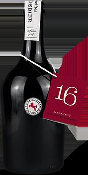 Hier ist eine Flasche Magnus 16
